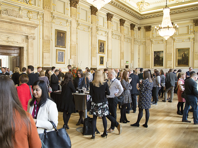 Delegates gather in the Great Hall